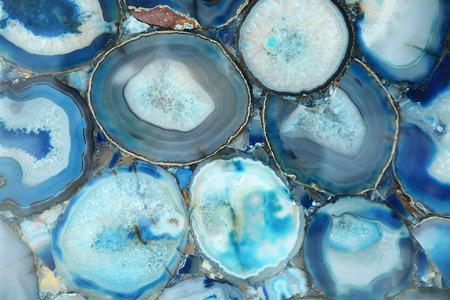 Unusual agate stone in a cut, decorative background