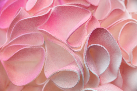 Pink background, fragment of a large decorative flower