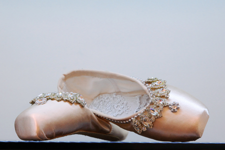 Beautiful embellished ballet shoes