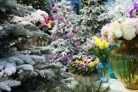 Christmas fair, decorations for the New year 版權商用圖片