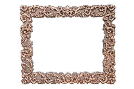 Wide vintage frame, blank on white background