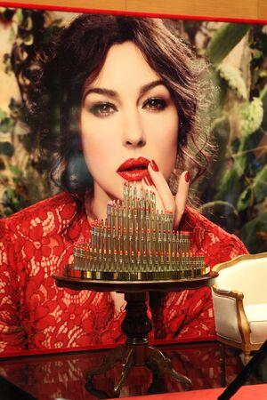 Beauty corner Dolce & Gabbana. Moscow. TSUM. 12.03.2014. Editorial