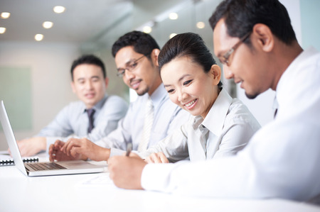 Asian Business team working photo