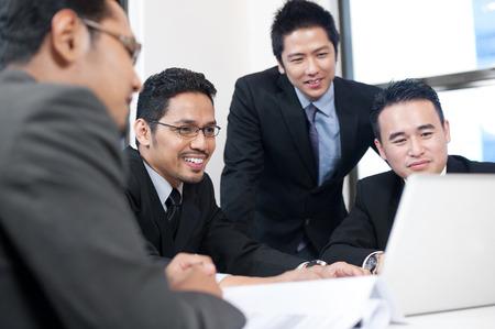 asian businessman: Asian Business man shaking hands