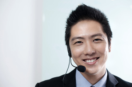 asian business people: Asian Business man call center
