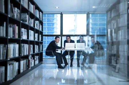 business transaction: Asian Business team working