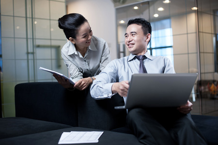 Asian Business working together photo