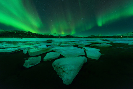 Northern lights (Aurora Borealis) in Iceland Stock Photo