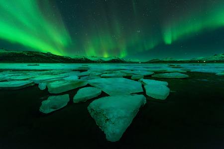 ionosphere: Northern lights (Aurora Borealis) in Iceland Stock Photo