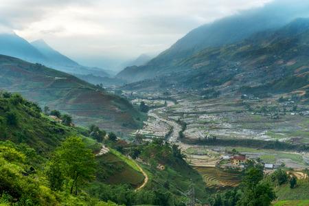 sapa: A small village in Sapa, Vietnam