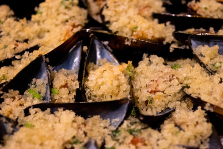 second meal: Gratin mussels