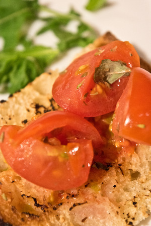 bruschetta: Tomato bruschetta Stock Photo