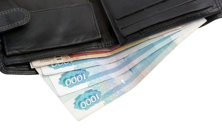 Wallet with rubles photo