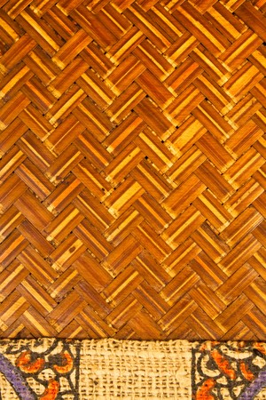 Abstract weave bamboo background,exquisite craftman skill photo