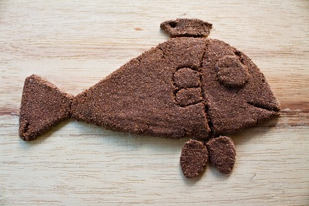 model fish: fish model, made by sand mix glue Stock Photo