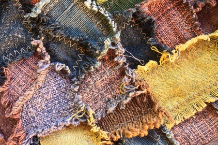 Colorful patchwork quilt, possible use to background photo