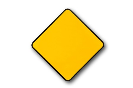 Empty yellow warning sign. Add any word you want... photo