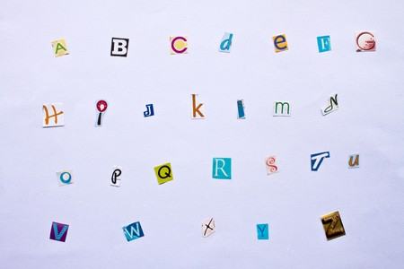 Alphabet made of newspaper clippings - colorful ABC. Stock Photo - 7649572