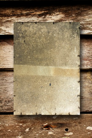 old paper on brown wood texture with natural patterns Stock Photo - 7817500