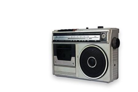 Old vintage Radio isolated on white background photo