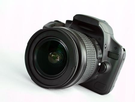 modern digital photo camera isolated on white background photo