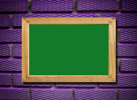 green board and the violet background , add your text on the blank Stock Photo - 7966997