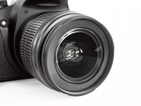 modern digital photo camera isolated on white background Stock Photo