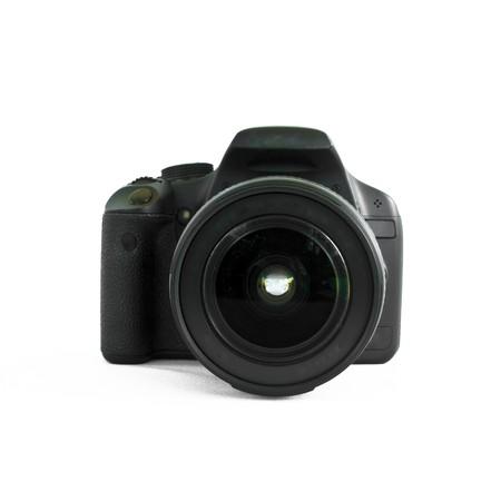 modern digital photo camera isolated on white background Stock Photo - 8033717
