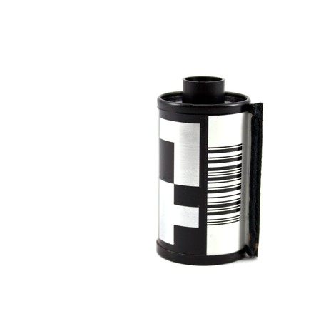 35mm Film Roll isolated on white background photo