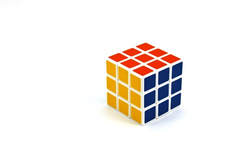 rubiks cube isolated on a white background Editorial