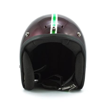 casco moto: Casco retro aislado en el fondo blanco