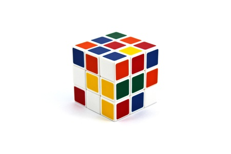 rubik's cube isolated on a white background Stock Photo - 8361774