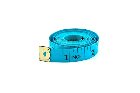 roll of measuring tape isolated on white background Stock Photo - 8367680