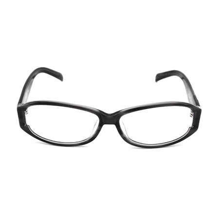myopic: eyeglasses isolated on the white backogrund