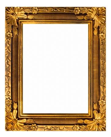 gild: cornice oro. isolated on white
