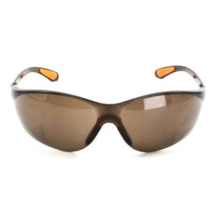 unisex: Algunos gafas de sol unisex marr�n aislados sobre blanco
