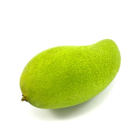 green mango: mango isolated on white background