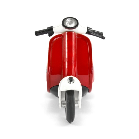 vintage vespa isolated on a white background photo