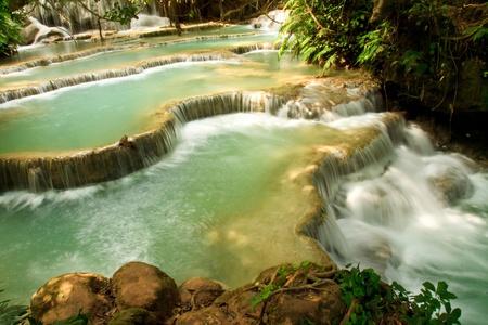 Kuang Si Waterfall, Luang prabang, Laos Stock Photo - 8868102