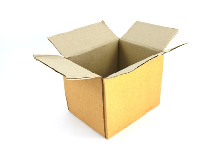 Corrugated cardboard box isolated on white background. Stock Photo - 9032906