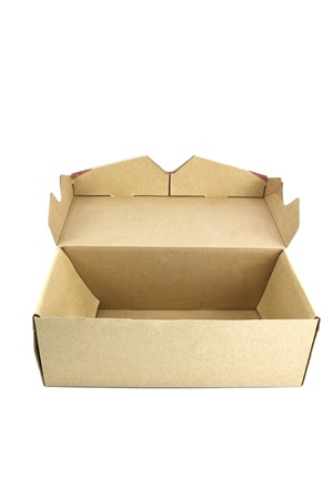 Corrugated cardboard box isolated on white background. Stock Photo - 9105140
