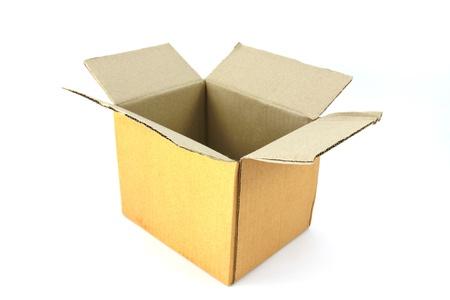 Corrugated cardboard box isolated on white background. Stock Photo - 9113383