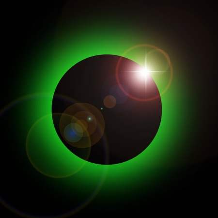 green eclipse and the dark universe photo