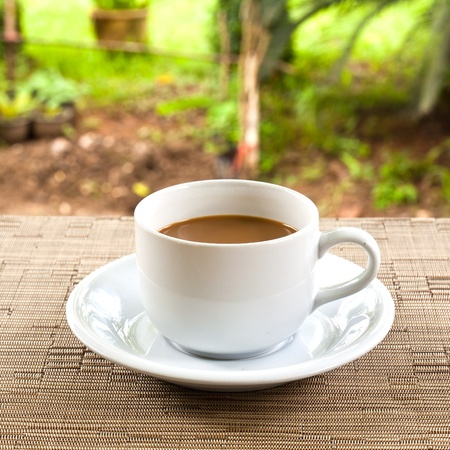 cup of coffee on the table Stock Photo - 9556569