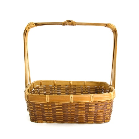 wicker basket isolated on white background Stock Photo - 9556579
