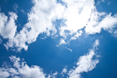 clear day: blue sky and cloud Stock Photo