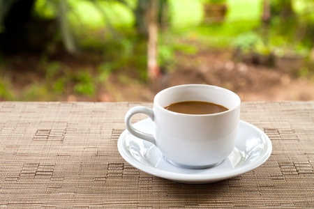 cup of coffee on the table Stock Photo - 9623214