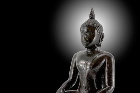 Traditional Thai black Buddha and aura Stock Photo - 9623189