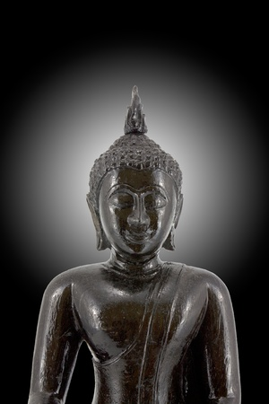 Traditional Thai black Buddha and aura Stock Photo - 9623209