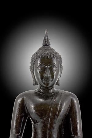 Traditional Thai black Buddha and aura Stock Photo - 9623209